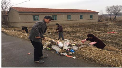 新城街道小寺村党员开展环境卫生大清扫行动
